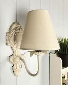 new vintage style ivory wall light lshade shabby