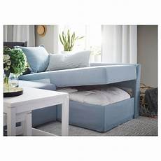 Holmsund Sleeper Sectional 3 Seat Orrsta Light Blue Ikea