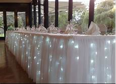 tulle lights wedding decor