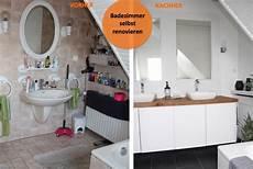 Altes Badezimmer Aufpeppen Vorher Nachher Bilder - badezimmer selber renovieren vorher nachher b a t h r o