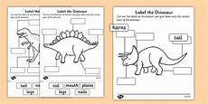 dinosaur worksheets year 1 15383 label the dinosaur worksheet primary resources