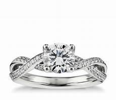 twist pav 233 diamond engagement ring in 14k white gold 1 4