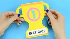 wm basteln kinder how to make s day trophy card paper crafts for