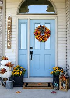 Decorations Front Door by Cheery Fall Front Door Decorations The Home Depot