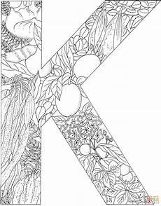 Ausmalbilder Erwachsene Buchstaben Der Buchstabe K Coloring Buchstabe K