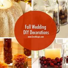 fall wedding diy decorations