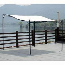 3m 3m wall mounted gazebo awning canopy sun shade door porch metal frame cover ebay