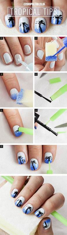 18 easy step by step summer nail art tutorials for