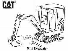 mini excavator coloring page get coloring pages
