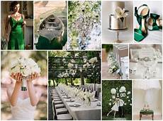 green silver white wedding theme can get some very good