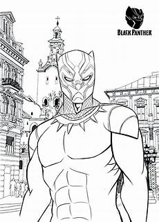 black panther marvel comics character printable coloring