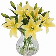 fiori artificiali real touch meiwo fiori artificiali 5 pcs real touch lattice lilies