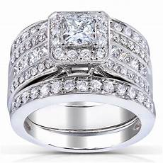 princess cut diamond 3 piece bridal ring 1 4 5 carat ctw in 14k white gold ebay