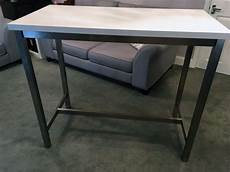 ikea utby stainless steel breakfast bar table white top