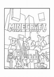 minecraft mobs a minecraft coloring page for