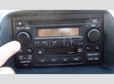 ENCONTRAR CODIGO DE RADIO DE UN HONDA CRV 2003 2006