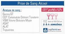taux alcool dans le sang prise de sang alcool cdt gamma gt vgm legipermis