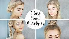 4 cute braid hairstyles quick easy youtube