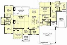 tuscan house plans single story tuscan style house plan 51982 with 3 bed 3 bath 3 car