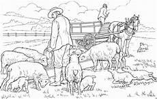 Malvorlagen Bauernhof Gratis Maenner Mit Schafen Ausmalbild Malvorlage Bauernhof