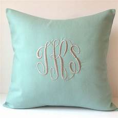 monogrammed pillows throw pillow cover personalized