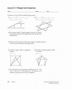 polygon sum conjecture worksheet for 10th grade lesson planet