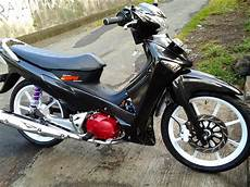 Modifikasi Motor Supra X 125 Warna Hitam Thecitycyclist