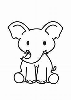 malvorlage elefant ausmalbild 17586