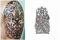 Polynesische Zeichen Tiki Symbol Tatoo