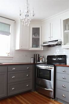 modern two tone cabinets reveal