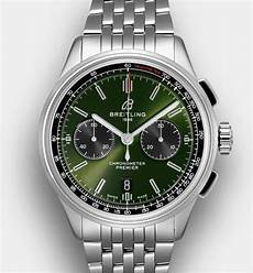 premier b01 chronograph 42 bentley steel green