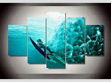 5 Panels Underwater Ocean Group Artwork   Multi Canvas Art