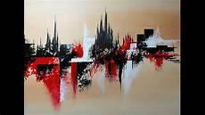 peinture tableau moderne peinture abstraite au couteau speed painting acrylique