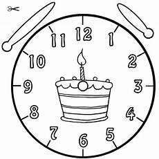 Ausmalbild Uhrzeit Lernen Ausmalbild Geburtstagstorte