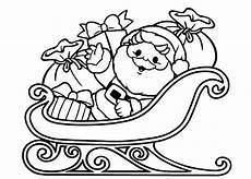 coloring pages of santa and his sleigh at getcolorings