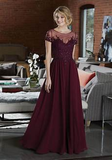 elegant chiffon bridesmaid dress featuring a beaded and embroidered bodice style 21585 morilee