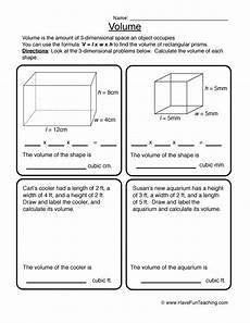 volume worksheet have fun teaching