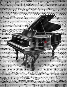 assurer un instrument de musique un beau dessin de piano vintage m 233 lang 233 s avec des notes de