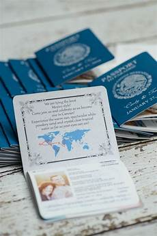 passport invitation for a destination wedding custom made invites handmade in canada by