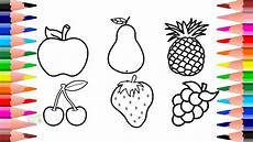 how to draw and colour fruits colouring pages for