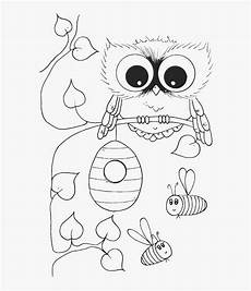 free baby owl coloring pages clip