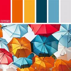 color palette cherry tangerine and blue if you like our