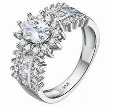 925 sterling silver vintage simulated diamond engagement