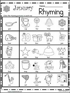 rhyming worksheets 18447 rhyming worksheet for january kindergarten january worksheets january and