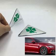 stickers alfa romeo for alfa romeo quatrefoil green delta car side fender