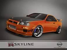 Nissan Skyline Gtr R34 Orange By 3dmanipulasi On Deviantart