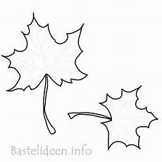 Basteln F 252 R Den Herbst Ahornblaetter Vorlage C