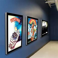 quot w single sided premier graphic light box backlit poster display frame ultra thin light