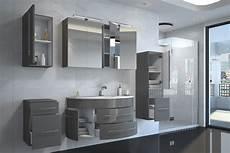 Badezimmermöbel Grau Hochglanz - badm 246 bel set 5tlg esdra 120 cm halbrunder waschplatz