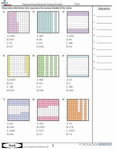 decimal worksheets with models 7336 decimal worksheets free commoncoresheets